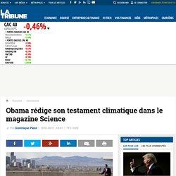 Obama rédige son testament climatique dans le magazine Science