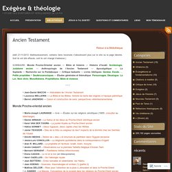 Exégèse & théologie