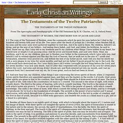 The Testaments of the Twelve Patriarchs (R. H. Charles)