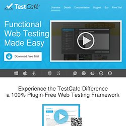 TestCafé: Web Testing Framework | DevExpress