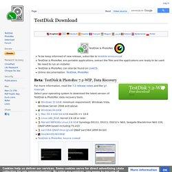 TestDisk Download - CGSecurity