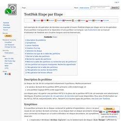 TestDisk Etape par Etape