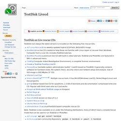 TestDisk Livecd