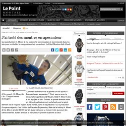 J'ai testé des montres en apesanteur - Le Point Montres