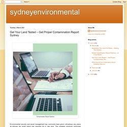 Get Your Land Tested – Get Proper Contamination Report Sydney