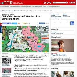 Testen Sie Ihr Wissen: DDR-Quiz: Honecker? War der nicht Bundeskanzler?