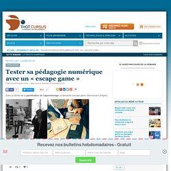 Tester sa pédagogie numérique avec un « escape game »