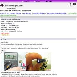 Tester la pile et le signal de télécommande infrarouge [TUTO]