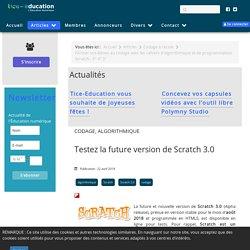 Testez la future version de Scratch 3.0