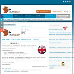 Testez gratuitement votre niveau d'anglais pour le TOEFL, TOEIC ou IELTS