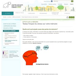 Testez l'impact du stress sur votre mémoire