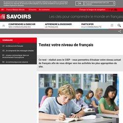 Testez votre niveau de français