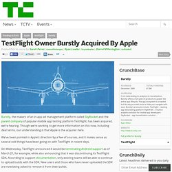 TestFlight Owner Burstly Acquired By Apple