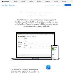 TestFlight Beta Testing - App Store