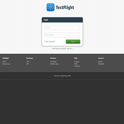 TestFlight » Upload API