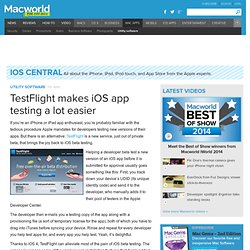 TestFlight makes iOS app testing a lot easier