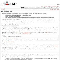 TestGrid – tahoe-lafs