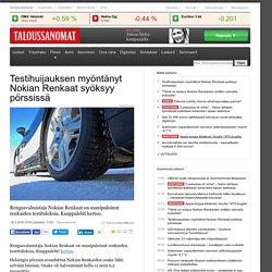 Testihuijauksen myöntänyt Nokian Renkaat syöksyy pörssissä