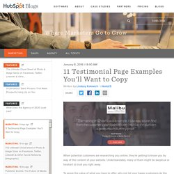 11 Testimonial Page Examples You'll Want to Copy