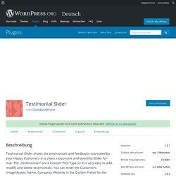 Testimonial Slider – WordPress-Plugin