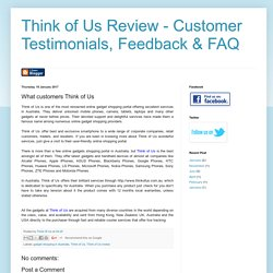 Think of Us Review - Customer Testimonials, Feedback & FAQ: What customers Think of Us