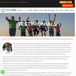 Testimonials of NGO in India
