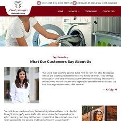 Testimonials: Laundry Services