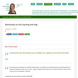 Testimonials on Life Coaching with Ang!