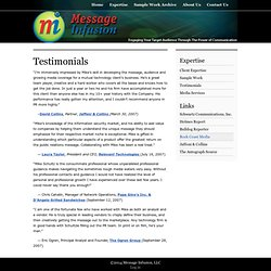 Testimonials : Message Infusion