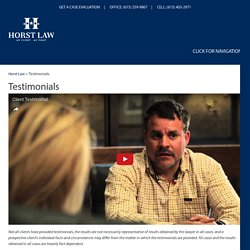 Testimonials, Nashville Criminal Defense Attorney Reviews