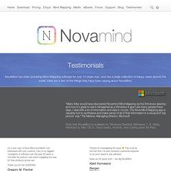 Testimonials - NovaMind.com