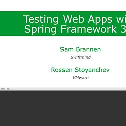Testing Web Applications with Spring Framework 3.2