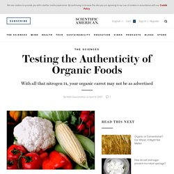 Testing the Authenticity of Organic Foods