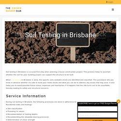 Independent Soil Testing & Report in Brisbane - Owner Builder Club