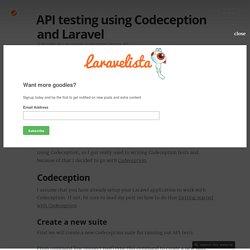 API testing using Codeception and Laravel