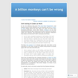 A billion monkeys can't be wrong