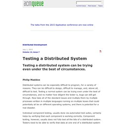 Testing a Distributed System
