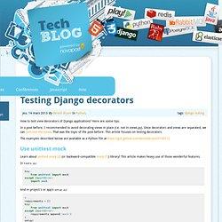 Testing Django decorators