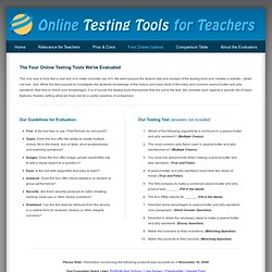 The Four Online Testing Tools We Evaluated