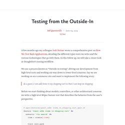 Testing from the Outside-In