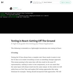 Testing in React: Getting Off The Ground — JavaScript Inside