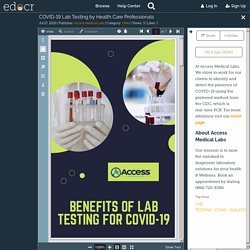 COVID-19 Lab Testing by Health Care Professionals