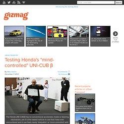 """Testing Honda's """"mind-controlled"""" UNI-CUB β"""