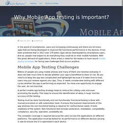 Why Mobile App testing is Important? - Mobile App Devtech