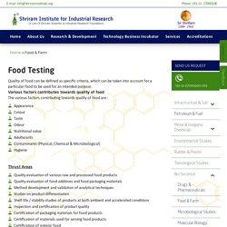 Food Testing Labs