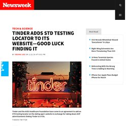 Tinder Adds STD Testing Locator to Its Website—Good Luck Finding It