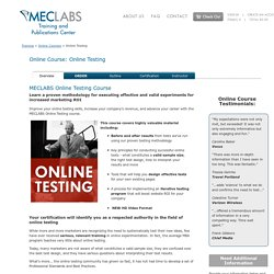 Online Testing Marketing Training Course Program