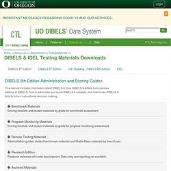 DIBELS & IDEL Testing Materials Downloads