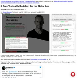 A Copy Testing Methodology for the Digital Age