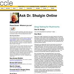 Drug Testing for Mushrooms